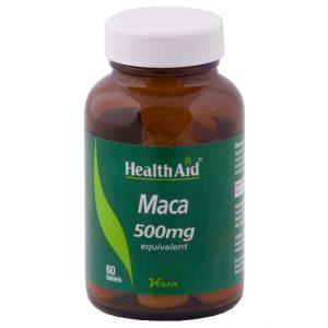 Health Aid Maca 500mg 60 Tablets - By Pumpernickel Online an Natural and Dietary Supplements Store Bedford UK