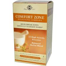 Solgar Comfort Zone Digestive Complex 90 Capsules - By Pumpernickel Online an Natural and Dietary Supplements Store Bedford UK
