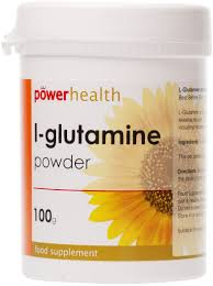 Power Health L-Glutamine Powder 100g - By Pumpernickel Online an Natural and Dietary Supplements Store Bedford UK