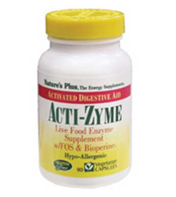Acti-Zyme 180 Caps - By Pumpernickel Online an Natural and Dietary Supplements Store Bedford UK