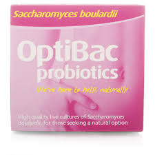 Pack of Optibac Saccharomyces boulardii probiotics