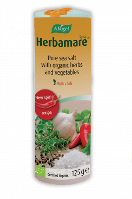 39202 12 herbamare spicy uk 125g NEW - Herbamare® Spicy Now even spicier!