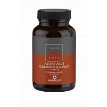 astragalus elderberry garlic complex 50 - Terranova Astragalus, Elderberry & Garlic Complex, 50 VCapsules