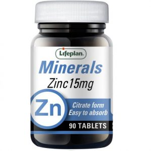 ZINC 300x300 - Zinc Citrate 15mg X 90 Tablets